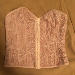 Forever 21 Light Pink Corset Tube Top